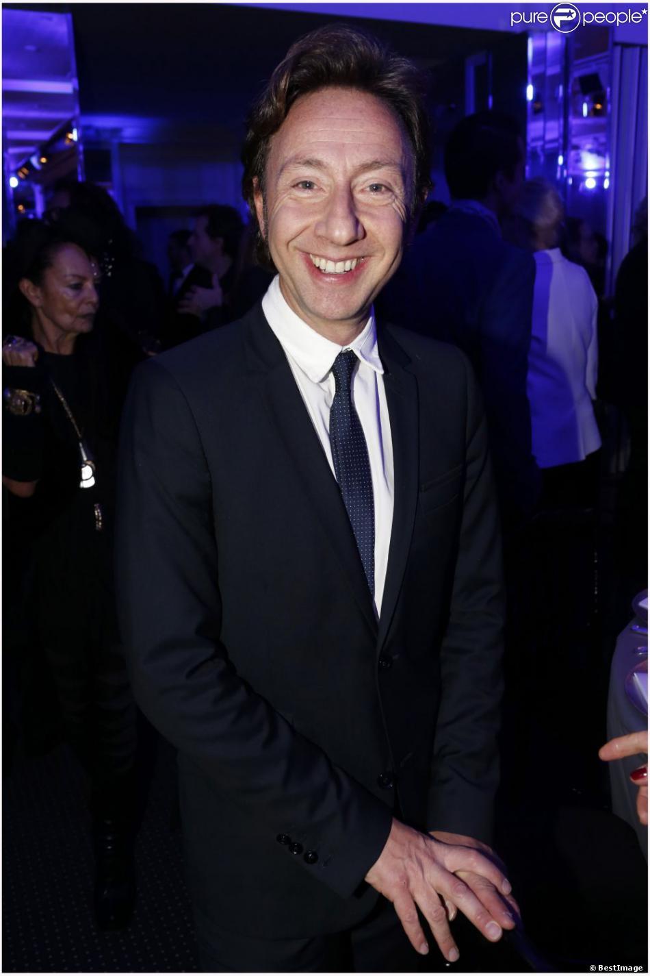 Stéphane Bern au dîner de la mode pour le Sidaction au Pavillon d'Armenonville à Paris, le 24 janvier 2013