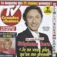 Stéphane Bern en couverture de TV Grandes Chaînes