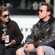 Arnold Schwarzenegger et sa femme Maria Shriver à Brentwood, le 2 février 2011.