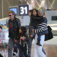 Arrivée de Johnny Hallyday et Laeticia en France, le 21 mai 2013.