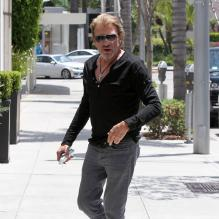 Exclusif - Johnny Hallyday à Beverly Hills, le 18 mai 2013.