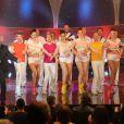 Patrick Sébastien lors de l'enregistrement de la150e émission Le plus grand cabaret du monde, le 14 mai qui sera diffusée le 22 juin 2013