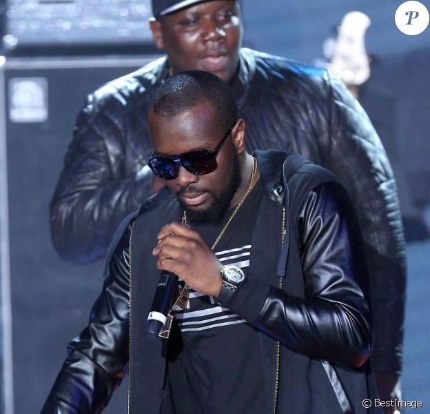 Maître Gims de la Sexion d'Assaut lors des Trace Urban Music Awards au Trianon. Paris, le 14 mai 2013.