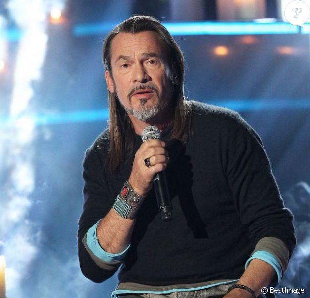 """Florent Pagny, le 17 décembre 2012 à Paris pour l'émission """"Samedi, on chante Jean-Jacques Goldman""""."""