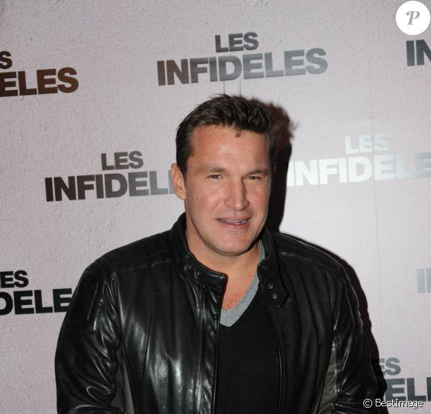 Benjamin Castaldi à l'avant-première du film Les Infidèles à Paris, le 14 février 2012.