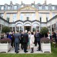 Camilla Parker Bowles à l'ambassade britannique à Paris le 27 mai 2013, pour une réception en l'honneur de ses compatriotes expatriés à l'occasion de sa visite officielle de deux jours en France.