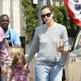 Jennifer Garner et sa fille Seraphina dans les rues de Los Angeles. Le 1er juin 2013.