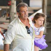Mel Gibson : Papa poule protecteur avec sa fille Lucia, 3 ans, malgré les tracas
