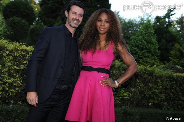 Serena Williams et Patrick Mouratoglou complices lors du dîner des champions de l'ITF qui se déroulait au Pavillon d'Ermenonville à Paris le 4 juin 2013
