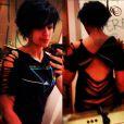Paris Jackson expose sa nouvelle coupe de cheveux et un tatouage dans le dos sur Twitter, le 24 février 2013.