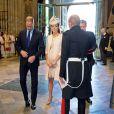 Le prince Harry assistait avec le prince William et Kate Middleton à la cérémonie pour les 60 ans du couronnement d'Elizabeth II, le 4 juin 2013 en l'abbaye de Westminster.