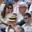 Patrick Poivre d'Arvor et une amie, Gaspard Ulliel et son amie lors du onzième jour des Internationaux de France à Roland-Garros, le 5 juin 2013