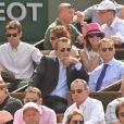 Eric Besson lors du onzième jour des Internationaux de France à Roland-Garros, le 5 juin 2013