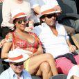 Hermine de Clermont-Tonnerre et un ami lors du onzième jour des Internationaux de France à Roland-Garros, le 5 juin 2013