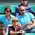 Jérôme Alonzo et sa compagne Jessica lors du onzième jour des Internationaux de France à Roland-Garros, le 5 juin 2013