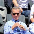 William Leymergie lors du onzième jour des Internationaux de France à Roland-Garros, le 5 juin 2013