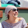 Valérie Benguigui lors du onzième jour des Internationaux de France à Roland-Garros, le 5 juin 2013