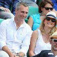 Yann Delaigue et Astrid Bard lors du onzième jour des Internationaux de France à Roland-Garros, le 5 juin 2013