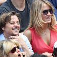 Daniel Bravo et sa fille lors du onzième jour des Internationaux de France à Roland-Garros, le 5 juin 2013