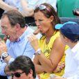 Jean-Pierre Pernault et Nathalie Marquay lors du onzième jour des Internationaux de France à Roland-Garros, le 5 juin 2013