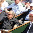 Ivo Pitanguy et son fils lors du onzième jour des Internationaux de France à Roland-Garros, le 5 juin 2013