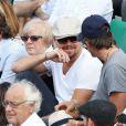 Leonardo Dicaprio, Lukas Haas lors du onzième jour des Internationaux de France à Roland-Garros, le 5 juin 2013