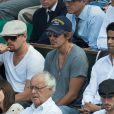 Leonardo DiCaprio, Lukas Haas et Nasser Al-Khelaifi lors du onzième jour des Internationaux de France à Roland-Garros, le 5 juin 2013