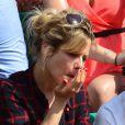 Marina Foïs lors du onzième jour des Internationaux de France à Roland-Garros, le 5 juin 2013