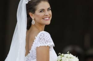 Mariage de la princesse Madeleine : Sa robe de mariée Valentino à la loupe