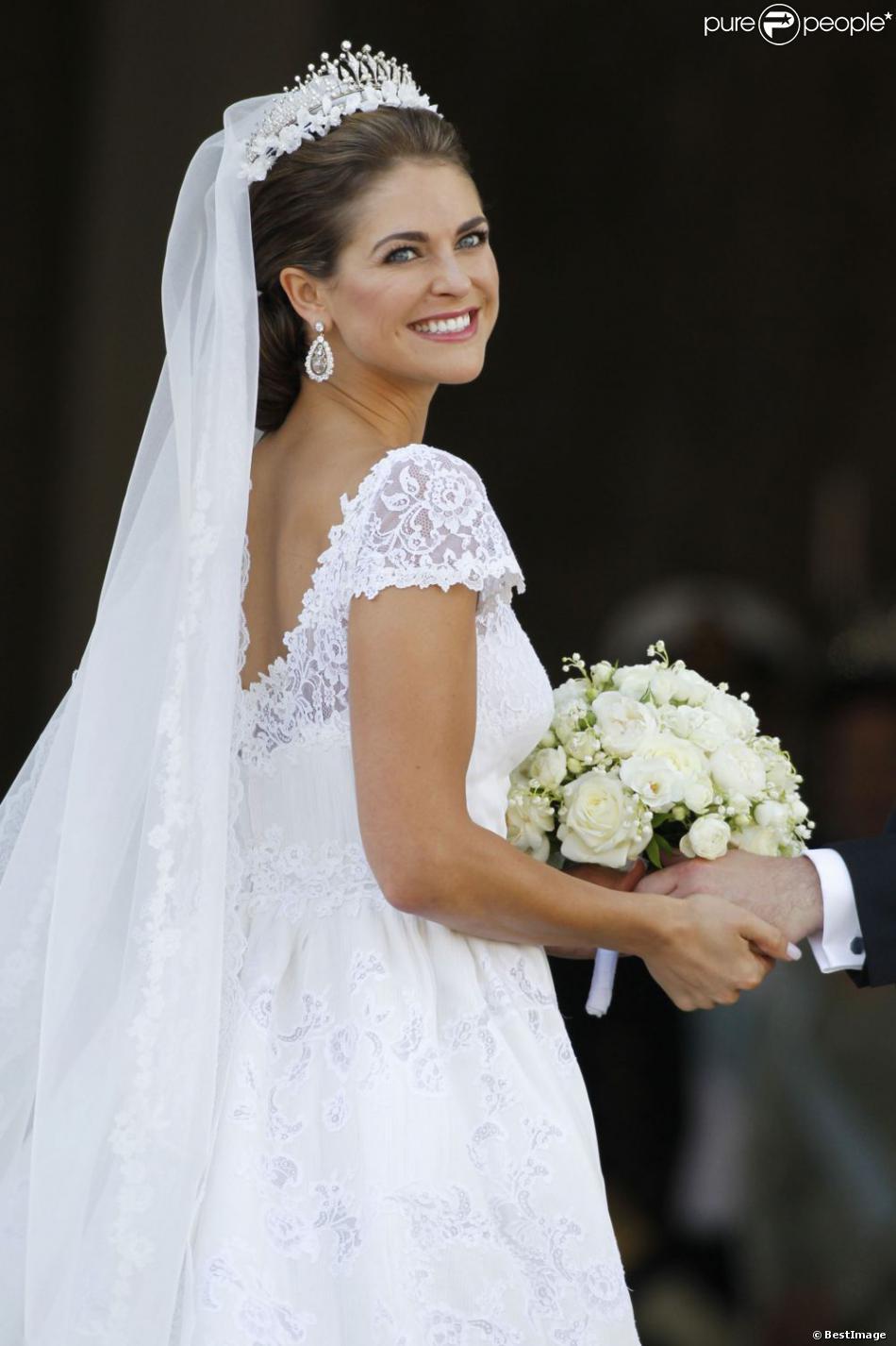 Mariage de la princesse madeleine sa robe de mari e for Code de robe de mariage de palais de justice