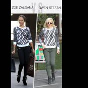 Match de look : Zoe Saldana vs Gwen Stefani, le sweat graphique