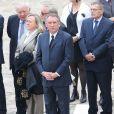 François Bayrou lors de l'hommage de la Nation à Pierre Mauroy, le 11 juin 2013 aux Invalides à Paris