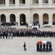 Hommage de la Nation à Pierre Mauroy, le 11 juin 2013 aux Invalides à Paris