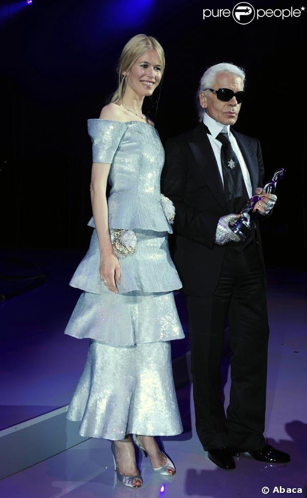Claudia Schiffer et Karl Lagerlfeld