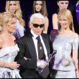 Maria Futwaengler-Burda, Karl Lagerfeld et Claudia Schiffer