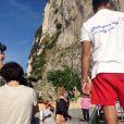 La chanteuse Mariah Carey et Miguel à Puglia en Italie pour le tournage d'un nouveau clip. Le 17 juin 2013.