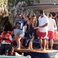 Mariah Carey et Miguel à Puglia en Italie pour le tournage d'un nouveau clip. Le 17 juin 2013.