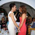 Lilly Becker et Simone Ballack, ex-épouse du footballeur Michael Ballack, lors du Raffaello Summer Day à Berlin. Le 21 juin 2013.
