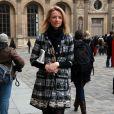 Delphine Arnault à son arrivée au défilé Louis Vuitton en 2012