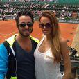 Vanessa Lawrens des Anges de la télé-réalité 5 et son boyfriend Benjamin Azoulay à Roland-Garros - Photo Twitter Vanessa Lawrens