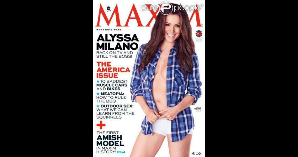 Alyssa Milano en couverture de Maxim (juillet-août 2013)
