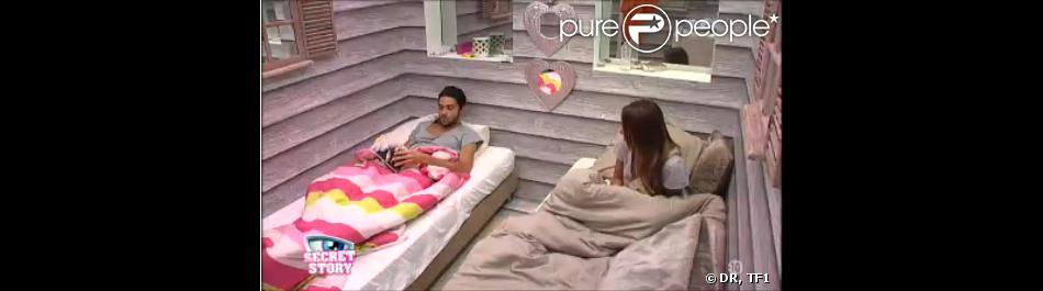 Julien et Anaïs dans Secret Story 7, mercredi 26 juin 2013 sur TF1