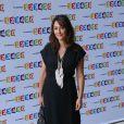 Daniela Lumbroso lors de la conférence de presse de rentrée de France Télévisions, le 28 août 2012 à Paris. Son émission Chabada sur France 3 est annulée et remplacée par Les chansons d'abord présentée par Natasha St-Pier.