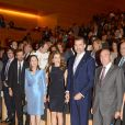 Le prince Felipe et la princesse Letizia d'Espagne lors d'une cérémonie de remise de prix et d'un concert, à Gérone, le 26 Juin 2013.