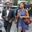 Chris Rock et Rosario Dawson sur le tournage de Finally Famous à New York, le 27 Juin 2013.
