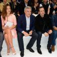 Jérémie Laheurte, Adèle Exarchopoulos, Sidney Toledano, Gad Elmaleh et Roschdy Zem au défilé Dior Homme Printemps-Eté 2014 à Paris, le 29 juin 2013.