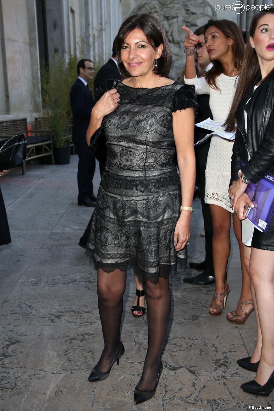Anne Hidalgo assiste à la soirée de clôture de la Fashion Week haute couture au Palais de Tokyo. Paris, le 4 juillet 2013.