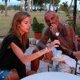 Exclusif - Christian Audigier et sa sublime fiancée Nathalie Sorensen à Ibiza le 8 juillet 2013.