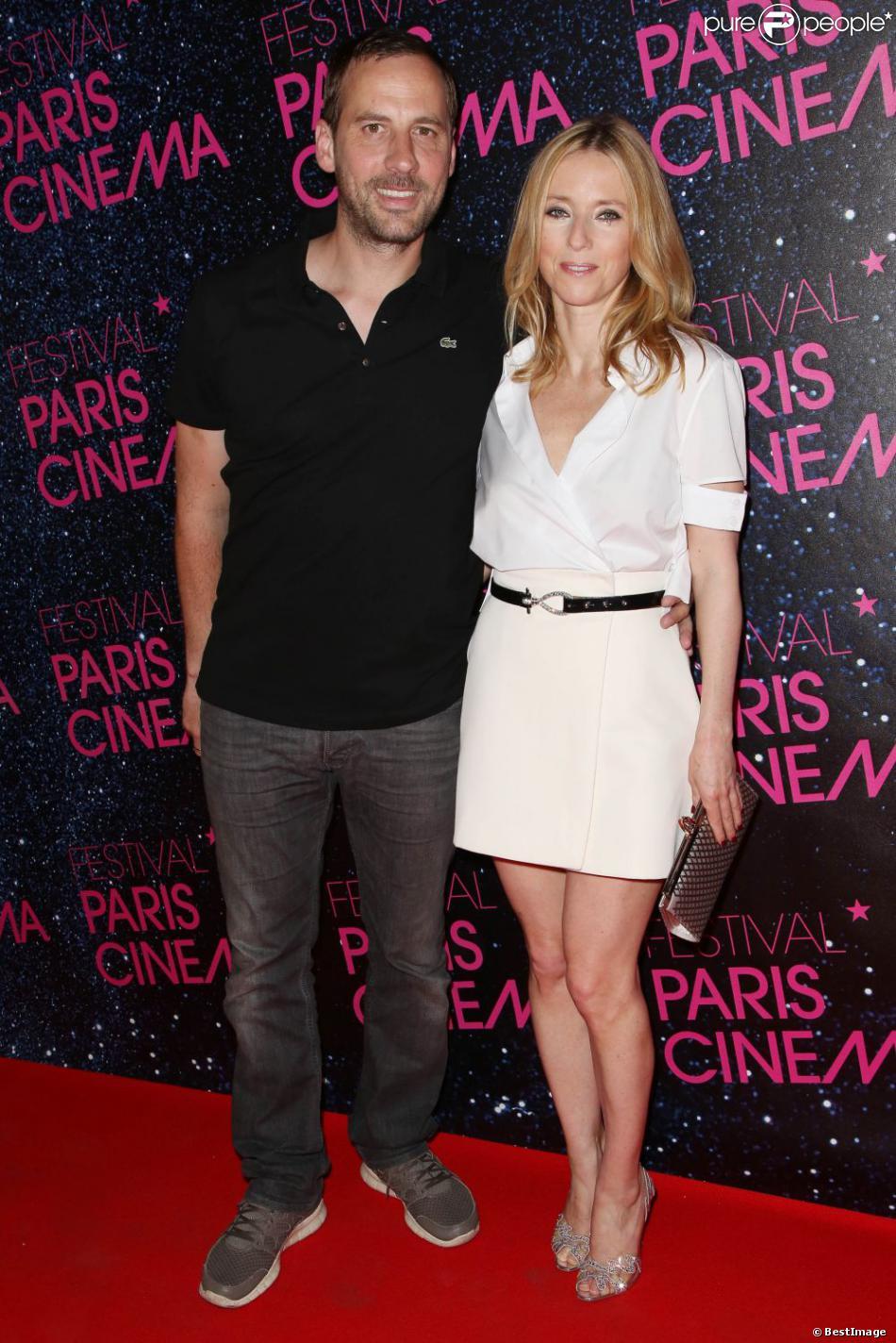 Léa Drucker et Fred Testot ensemble pour la première du film Le Grand Méchant loup à l'occasion du festival Paris Cinéma au Gaumont Opéra à Paris, le 9 juillet 2013.