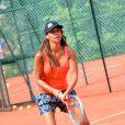 Alicia Fall au tournoi de tennis de l'association Enfant star et match à Juan les Pins, le 9 juillet 2013.
